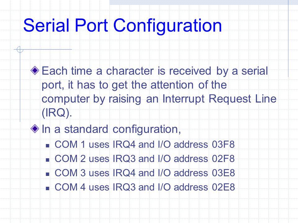 Serial Port Configuration