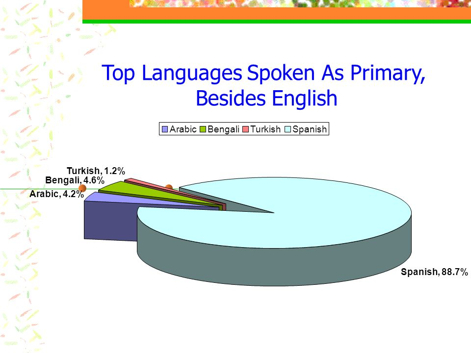 Top Languages Spoken As Primary,
