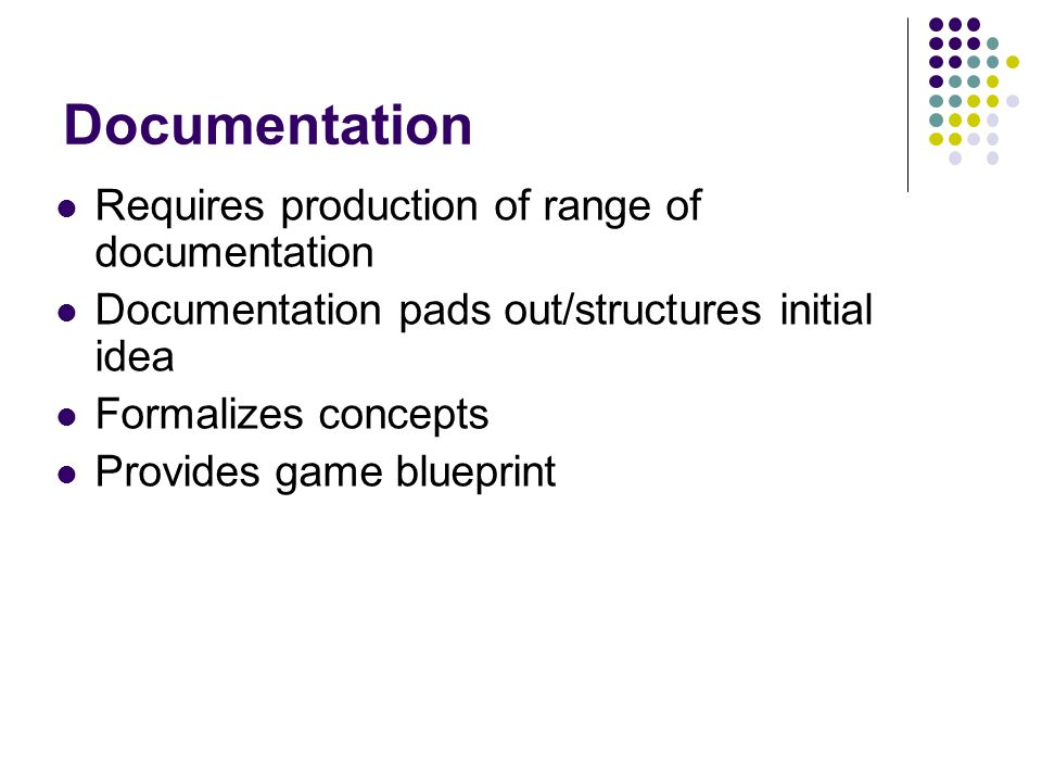 Documentation Requires production of range of documentation