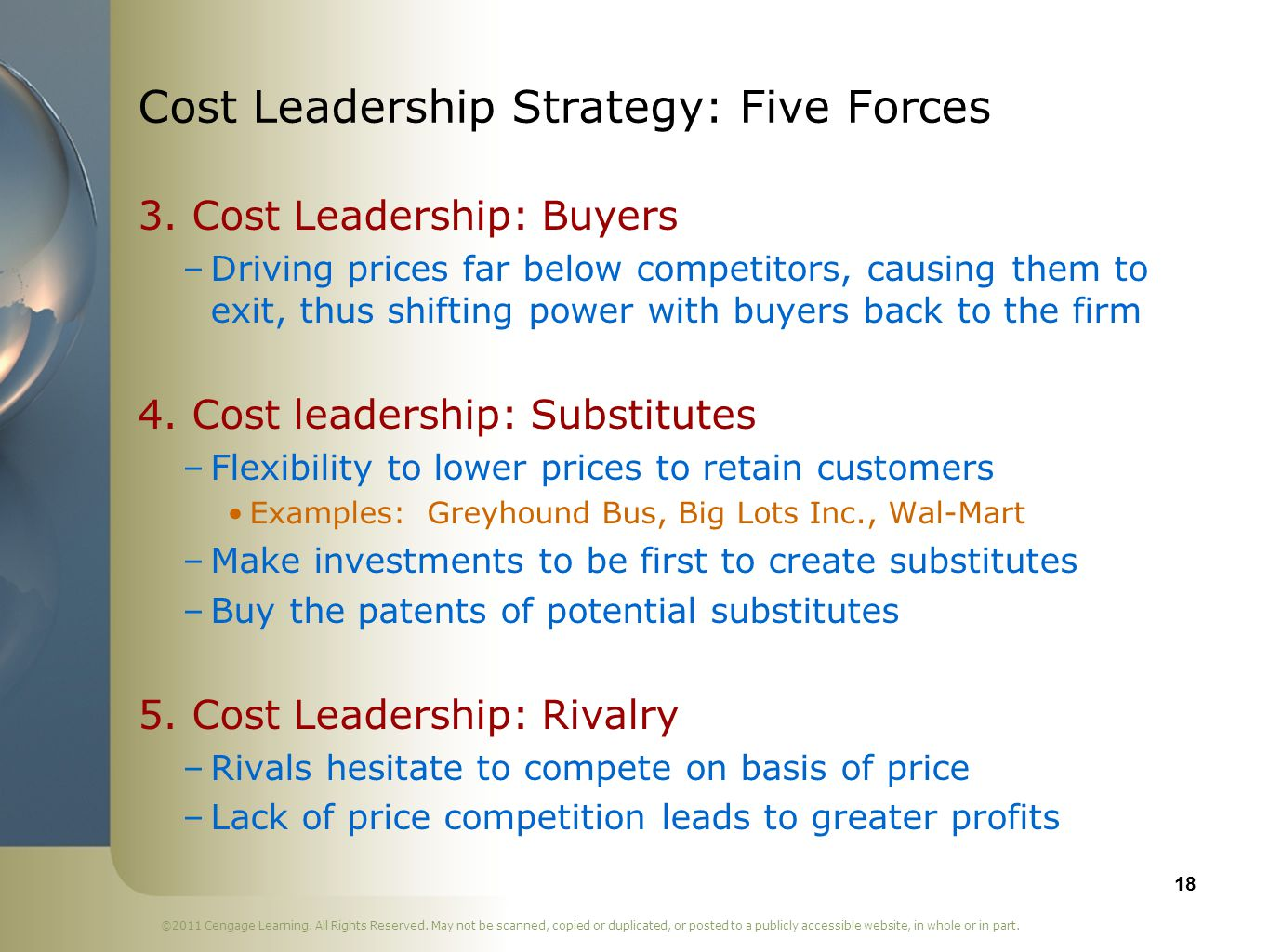hp cost leadership strategy