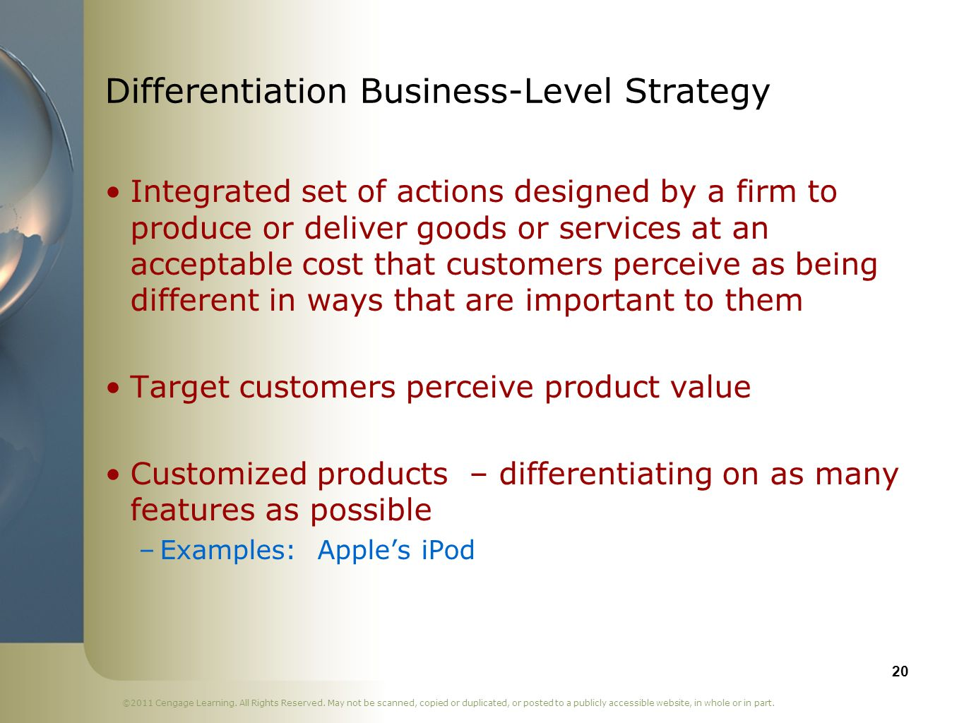 Differentiation Business-Level Strategy