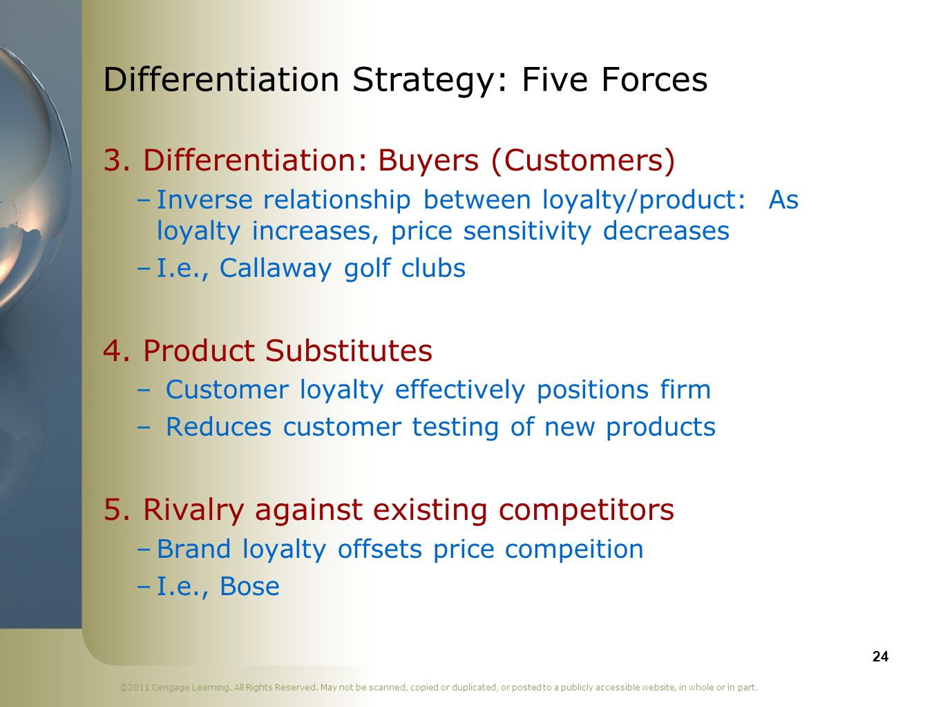 Differentiation Strategy: Five Forces