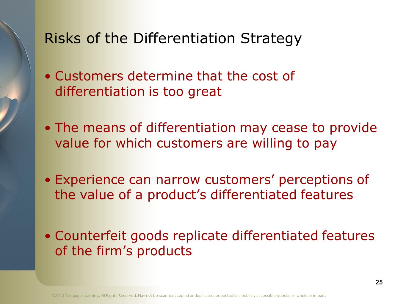 Risks of the Differentiation Strategy