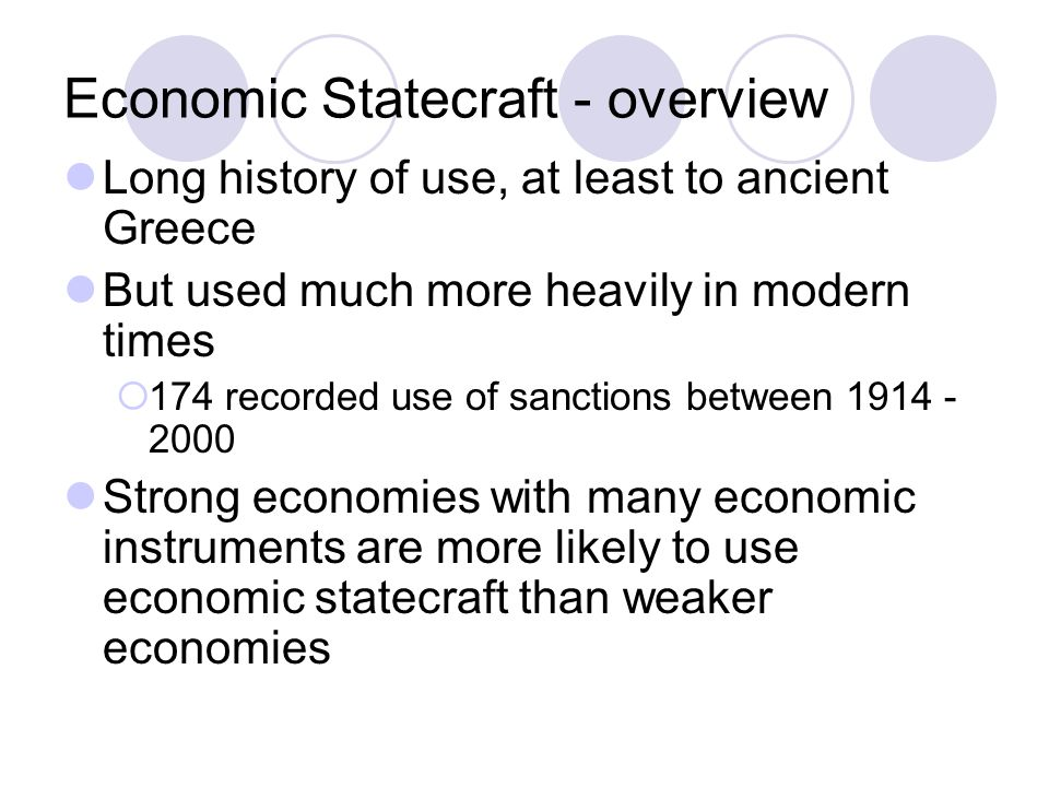 Economic Statecraft - overview