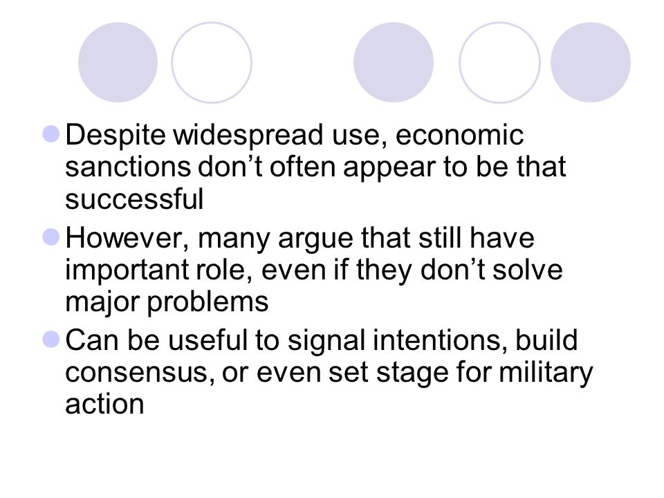 Despite widespread use, economic sanctions don't often appear to be that successful