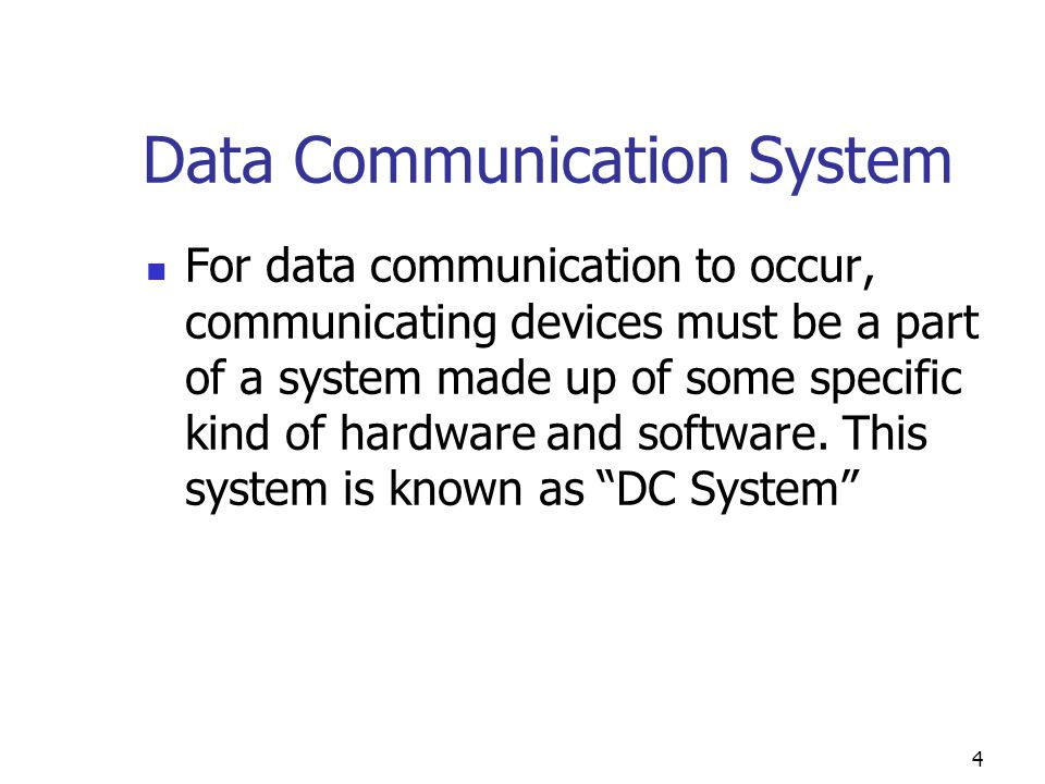 Data Communication System : Csc introduction to telecommunications systems ppt
