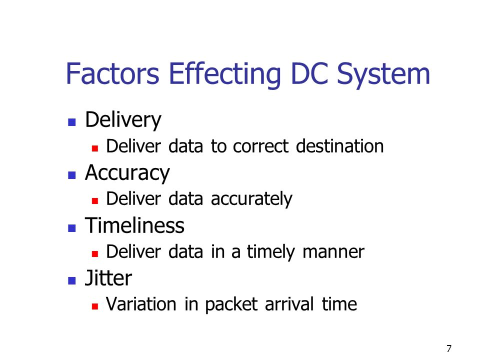 Factors Effecting DC System