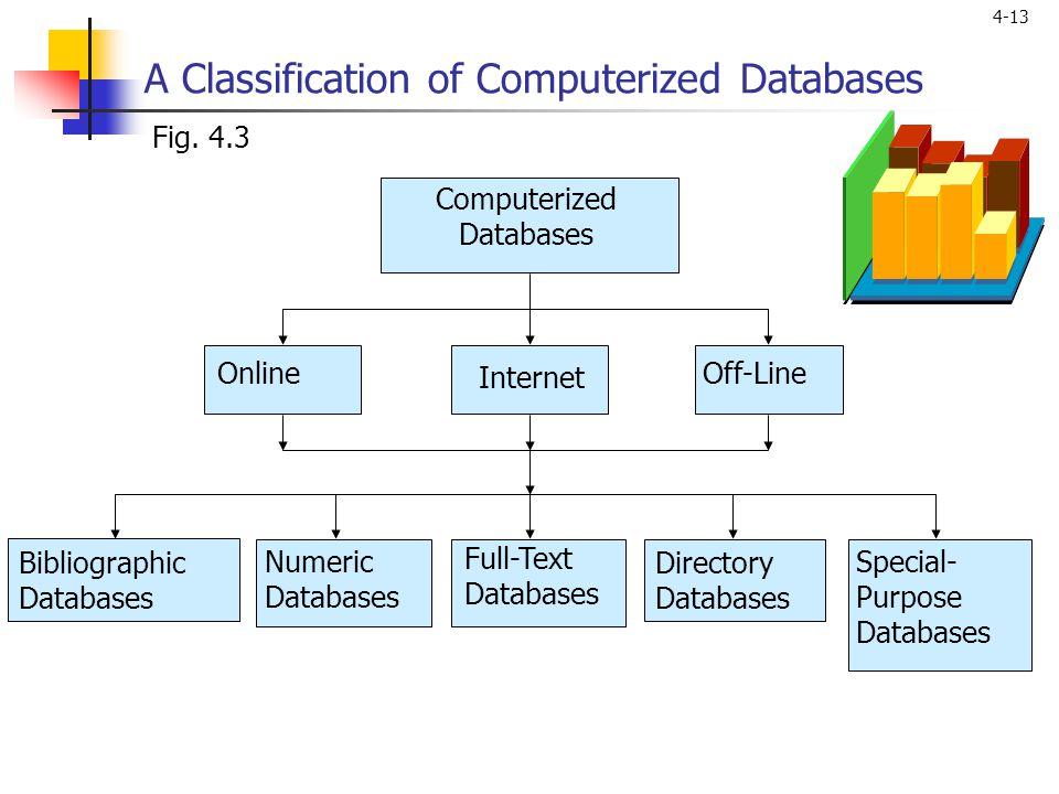 A Classification of Computerized Databases