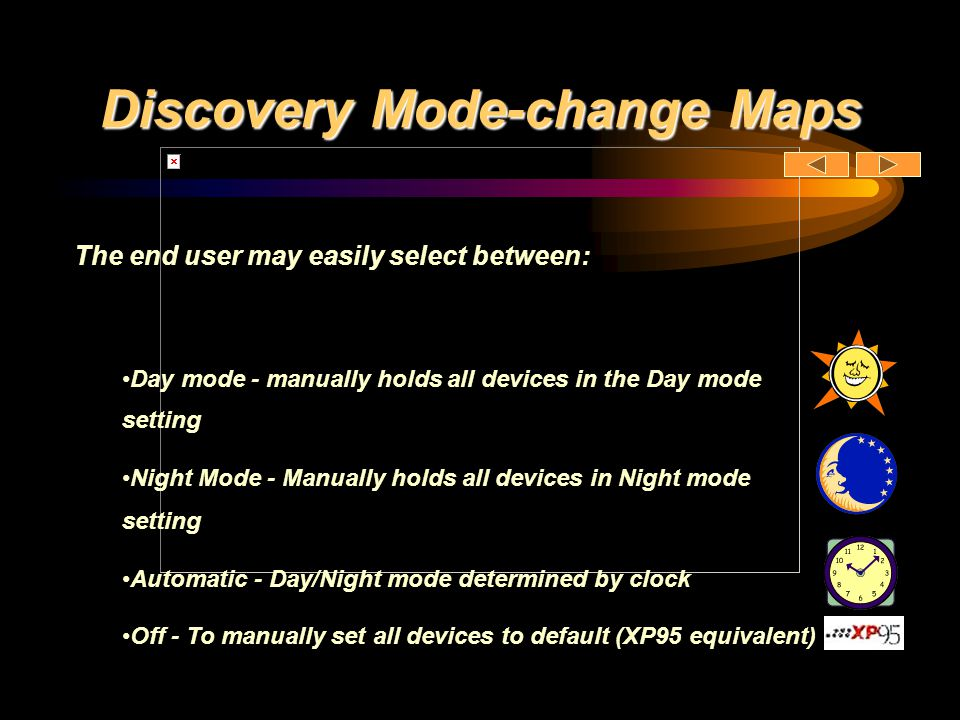 Discovery Mode-change Maps