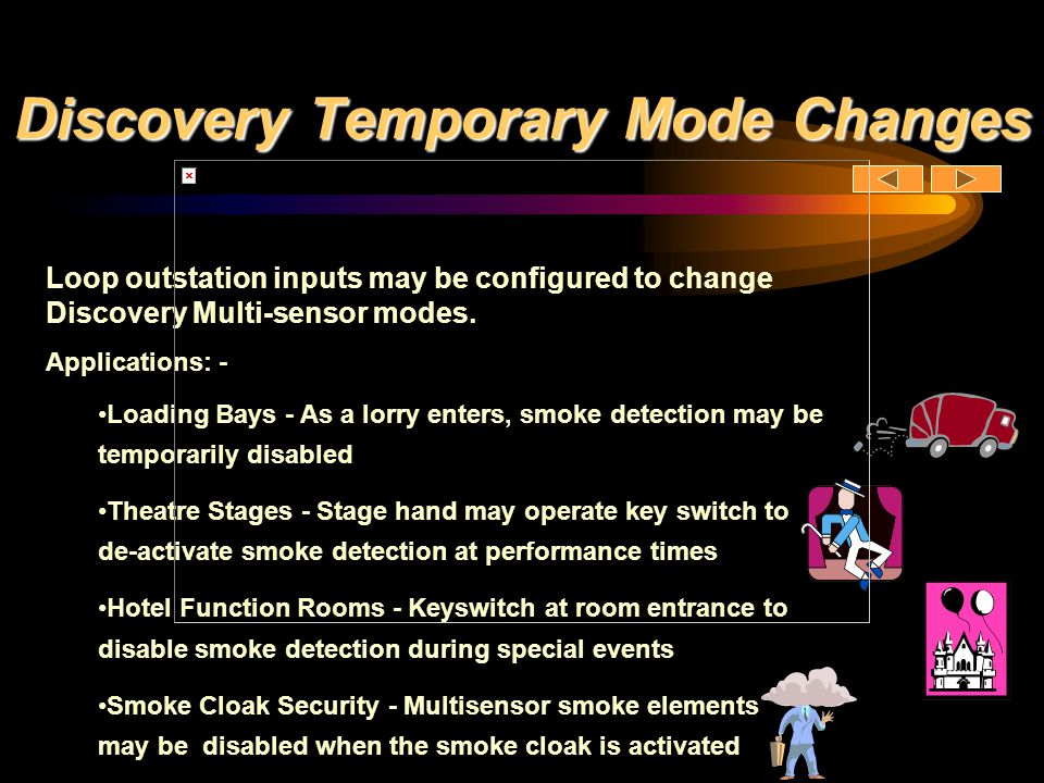 Discovery Temporary Mode Changes