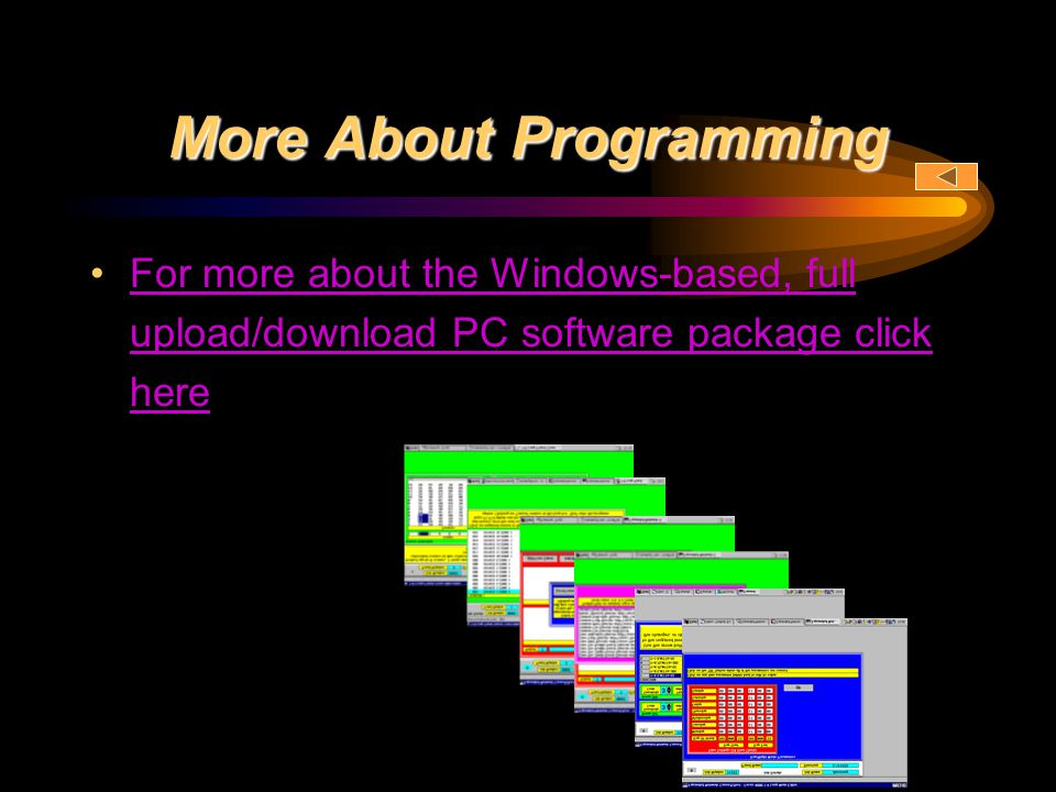 More About Programming