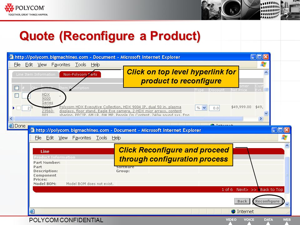 Quote (Reconfigure a Product)