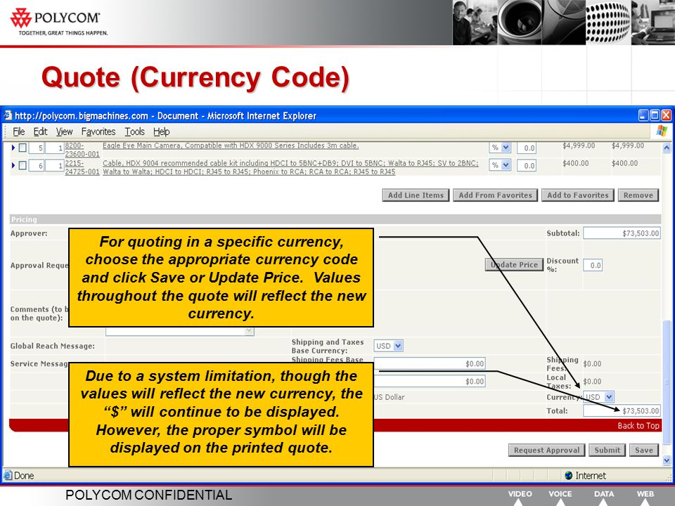 Quote (Currency Code)