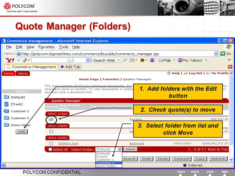 Quote Manager (Folders)