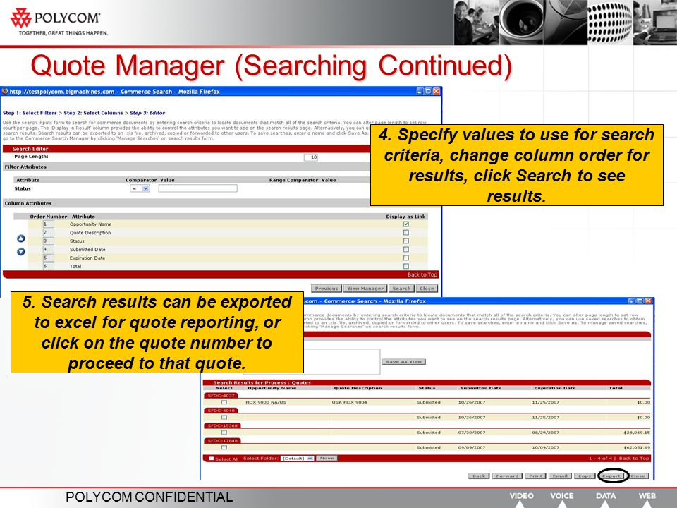 Quote Manager (Searching Continued)