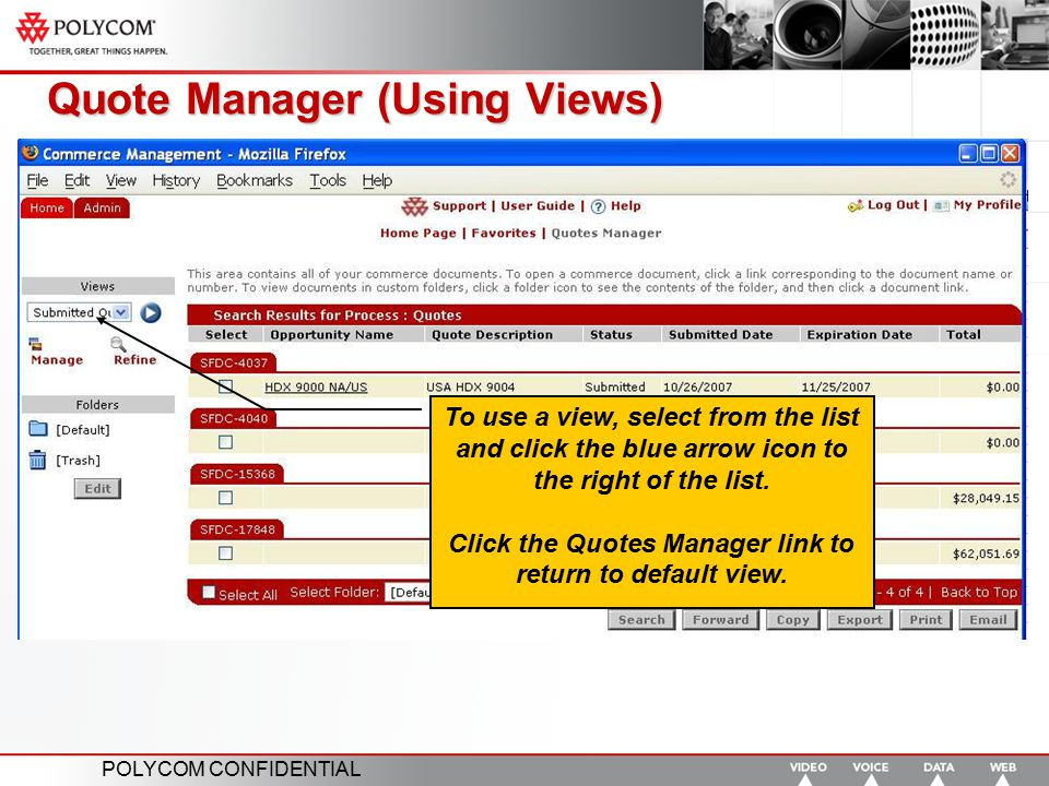 Quote Manager (Using Views)