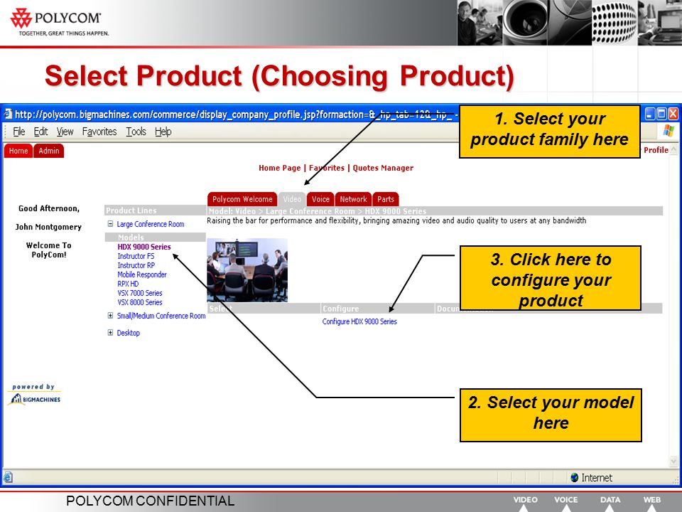 Select Product (Choosing Product)