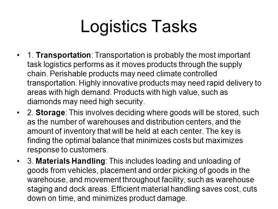 Logistics Tasks