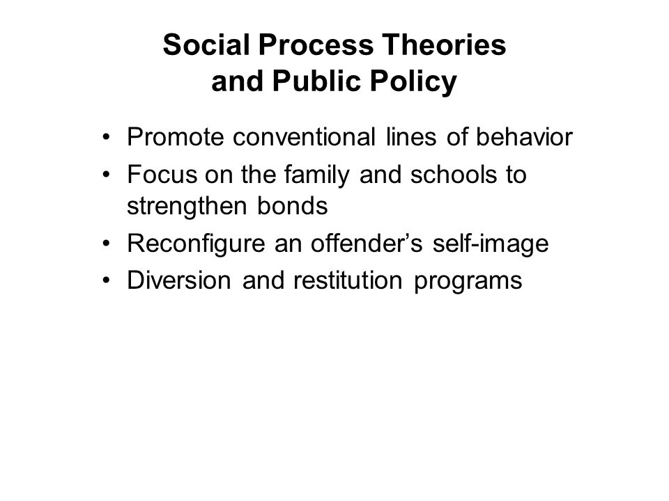 Social Process Theories and Public Policy