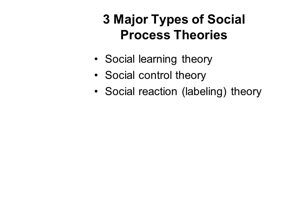 3 Major Types of Social Process Theories