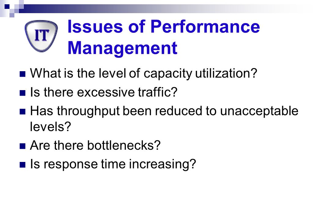 Issues of Performance Management