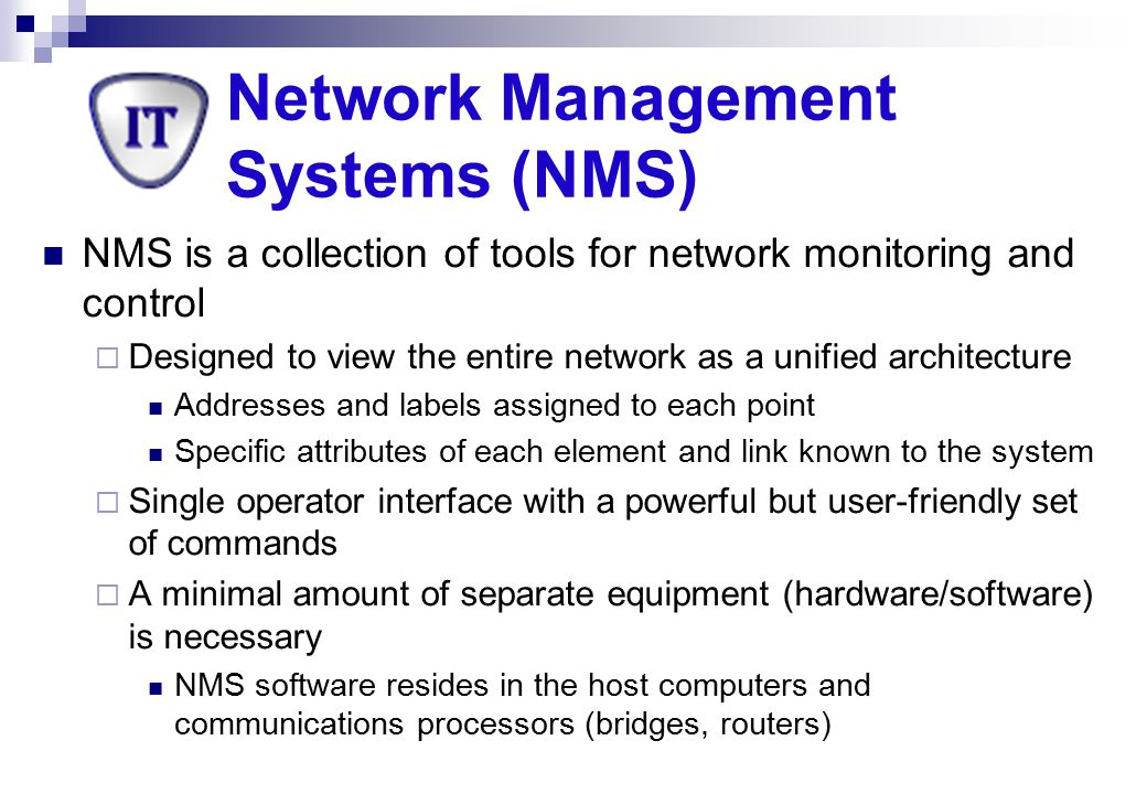 Network Management Systems (NMS)