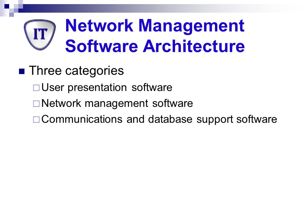 Network Management Software Architecture