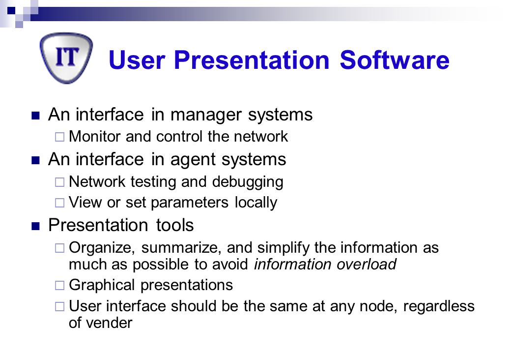 User Presentation Software