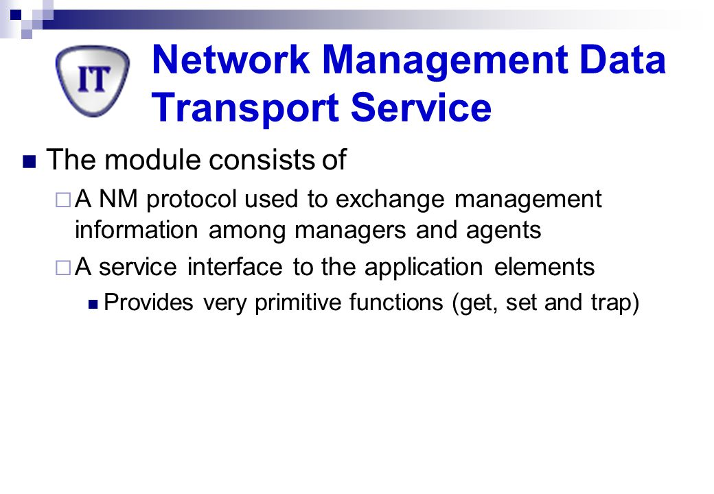 Network Management Data Transport Service