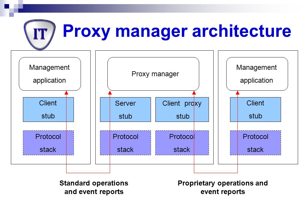 Proxy manager architecture