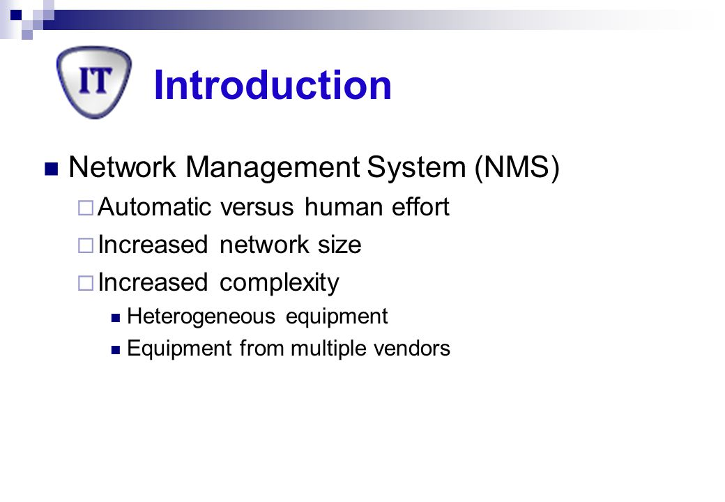 Introduction Network Management System (NMS)
