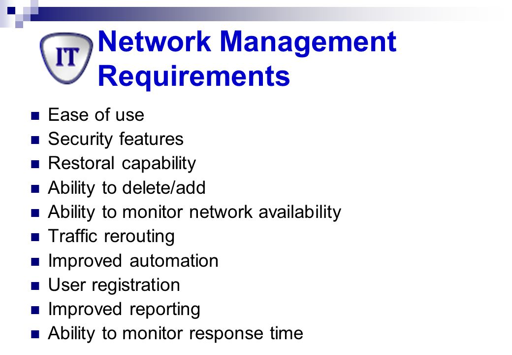 Network Management Requirements