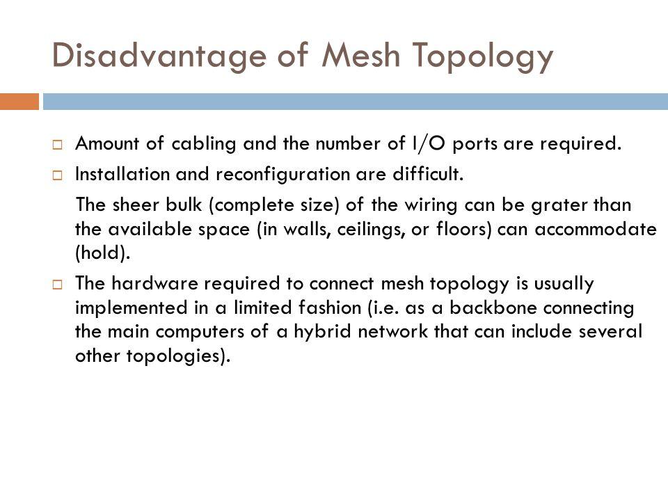 Disadvantage of Mesh Topology