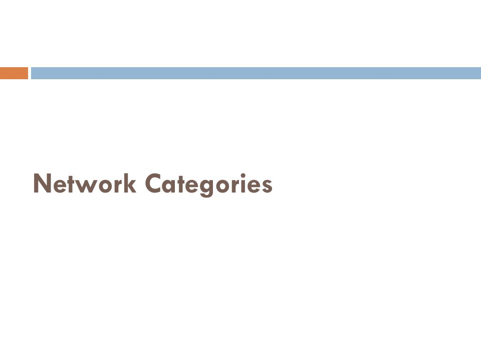Network Categories