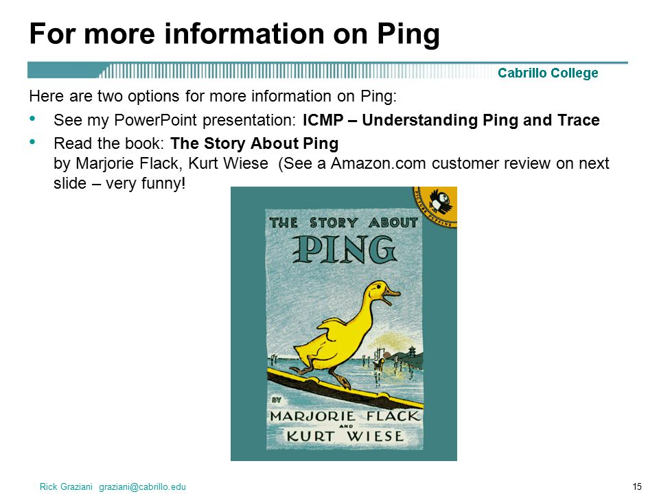 For more information on Ping