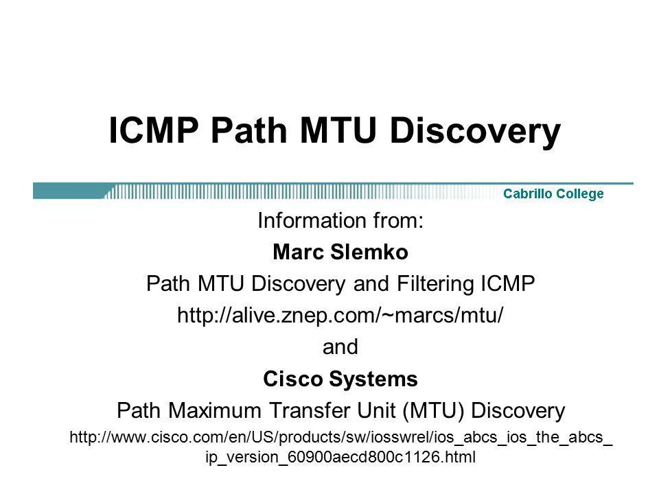 ICMP Path MTU Discovery