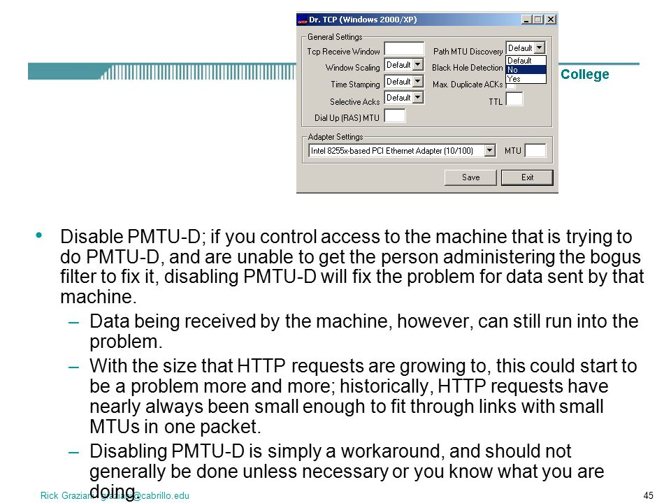 Disable PMTU-D; if you control access to the machine that is trying to do PMTU-D, and are unable to get the person administering the bogus filter to fix it, disabling PMTU-D will fix the problem for data sent by that machine.
