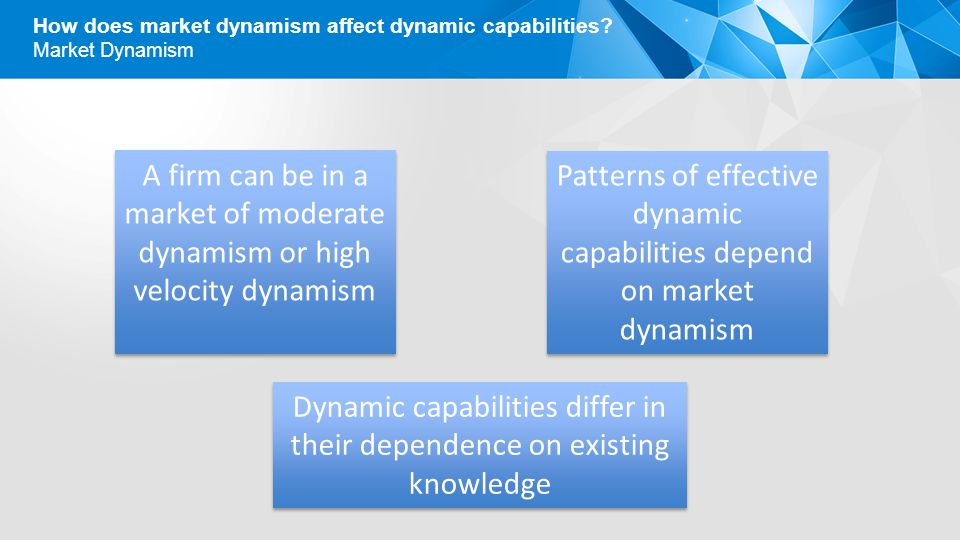 Patterns of effective dynamic capabilities depend on market dynamism