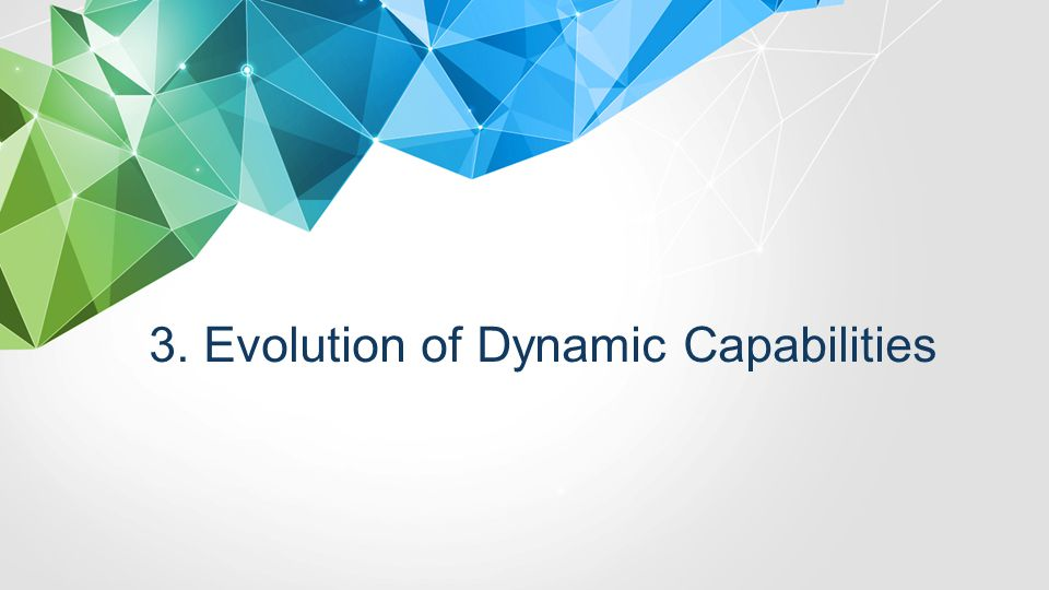 3. Evolution of Dynamic Capabilities