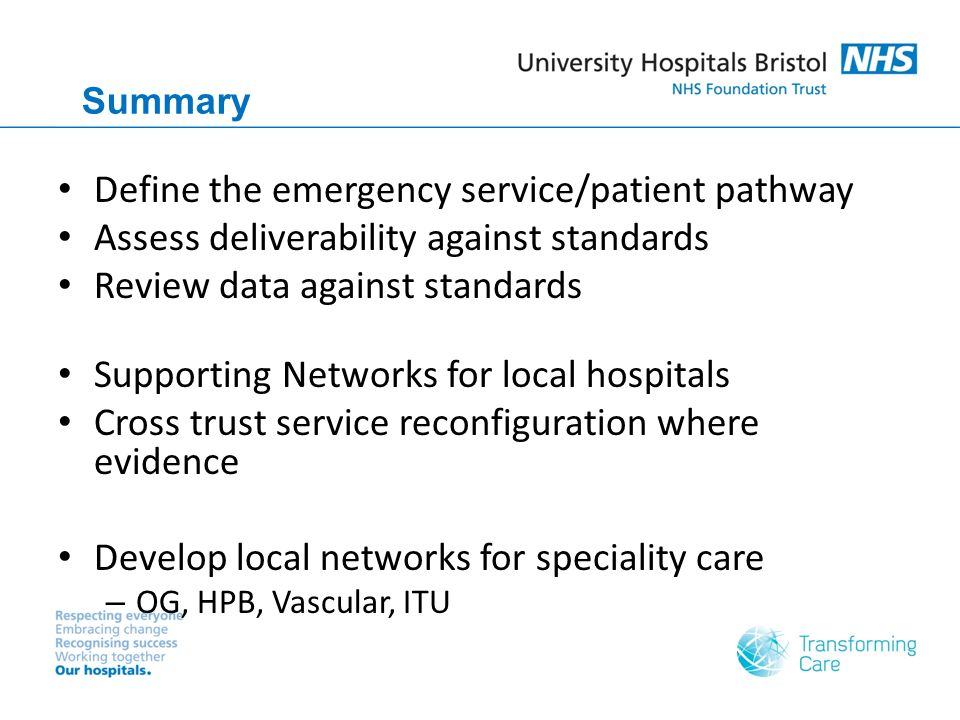 Define the emergency service/patient pathway