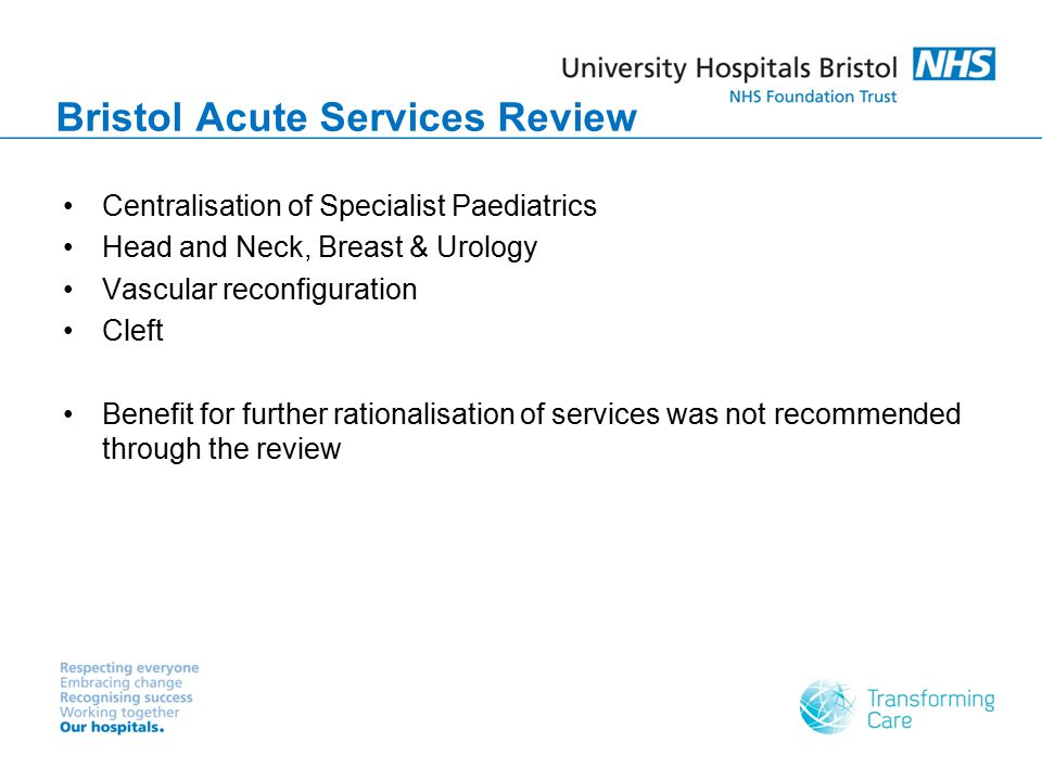 Bristol Acute Services Review