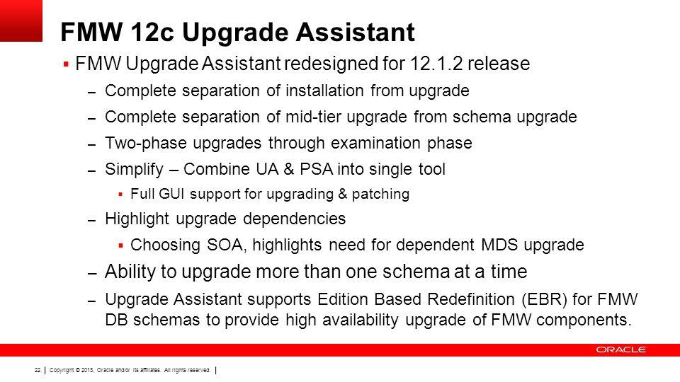 FMW 12c Upgrade Assistant