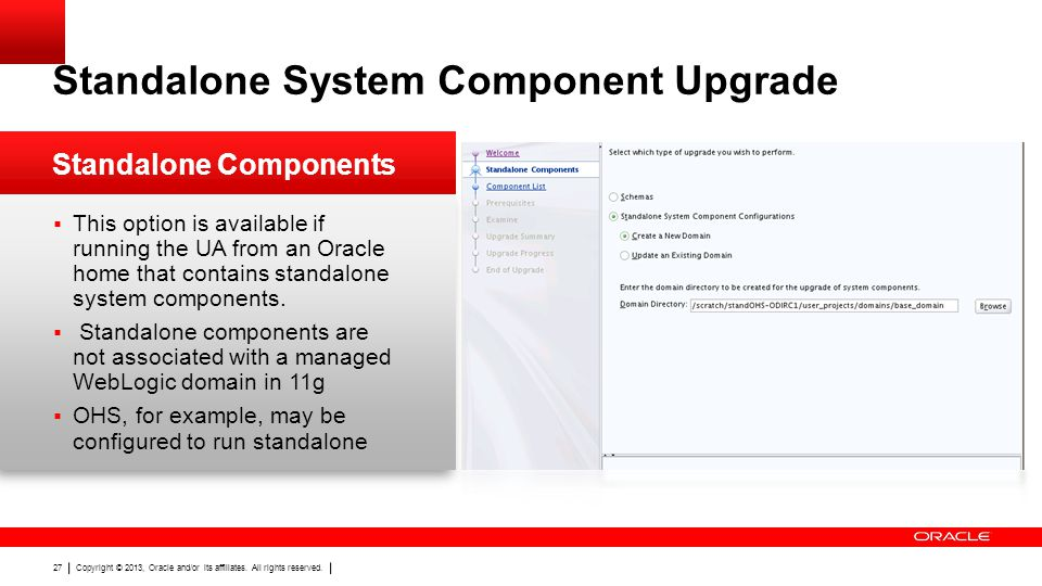 Standalone System Component Upgrade
