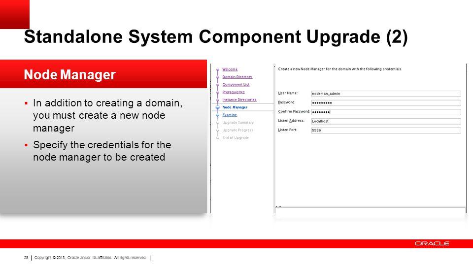 Standalone System Component Upgrade (2)
