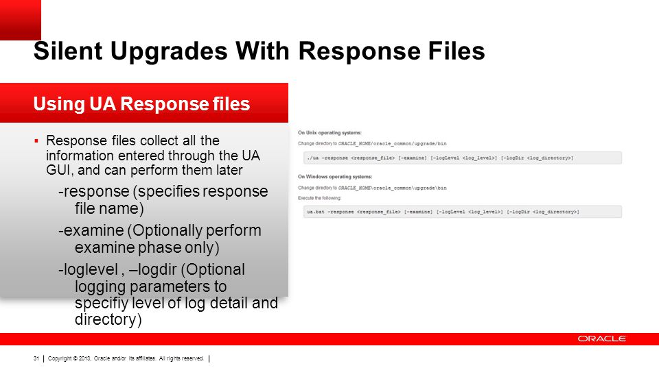 Silent Upgrades With Response Files
