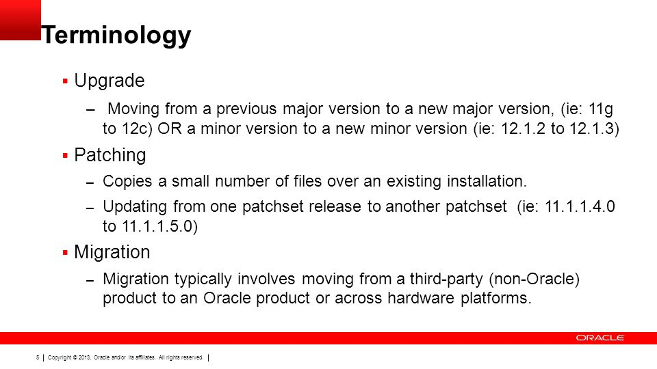 Terminology Upgrade.