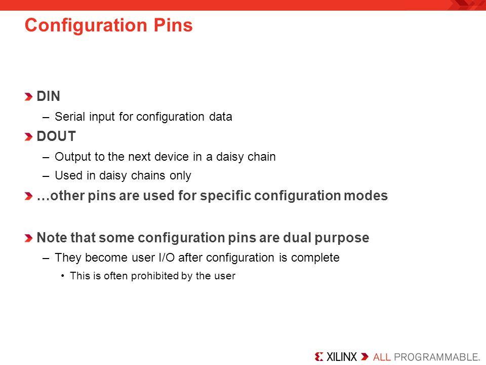 Configuration Pins DIN DOUT