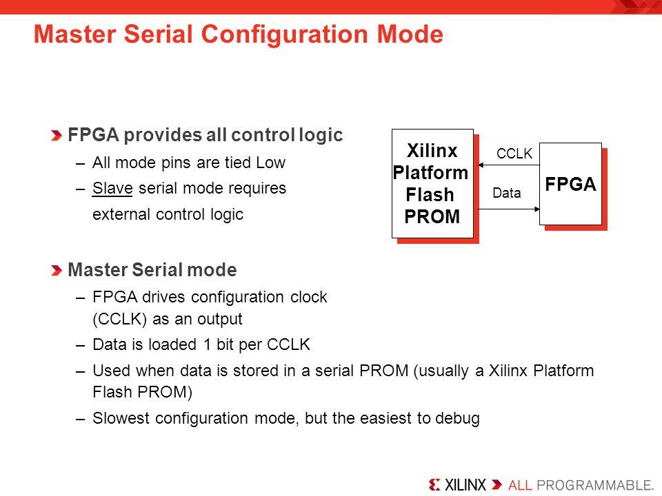 Master Serial Configuration Mode