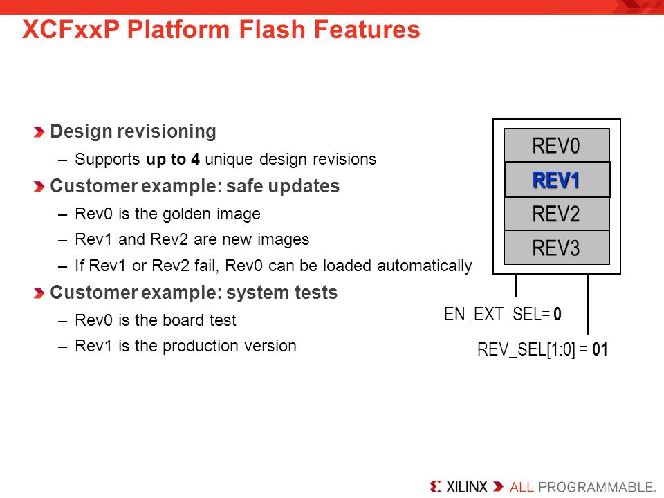 XCFxxP Platform Flash Features