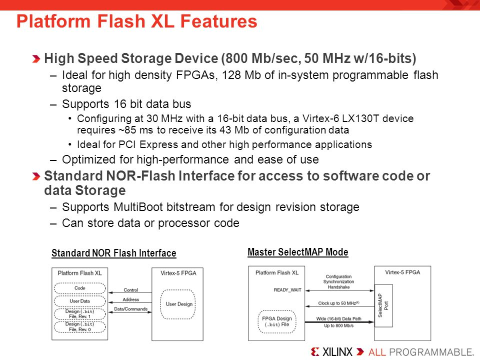 Platform Flash XL Features